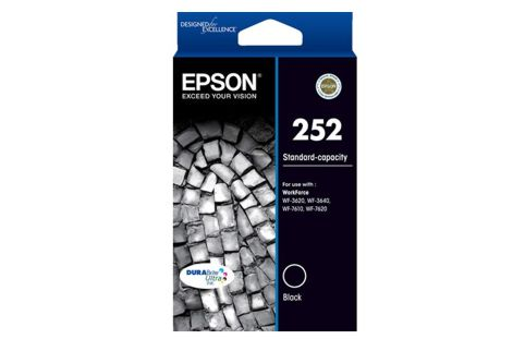 Epson 252 Black Ink Cartridge (Genuine)