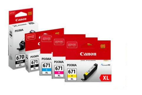 Canon PGI670XL + CLI671XL MG5760 High Yield Ink Pack (Genuine)