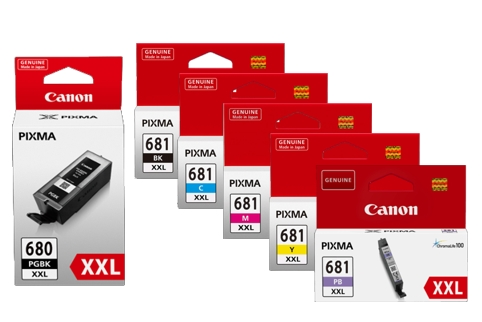 Canon PGI680 + CLI681 6 Colour Extra High Yield Ink (Genuine)