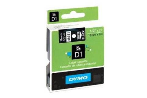 DYMO SD45021 White on Black 12MM X 7M Tape (Genuine)