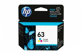 HP #63 ENVY 4520 Colour Ink Cartridge (Genuine)