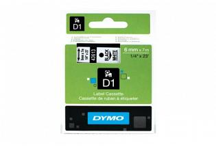 DYMO SD43613 Black on White 6MM X 7M Tape (Genuine)